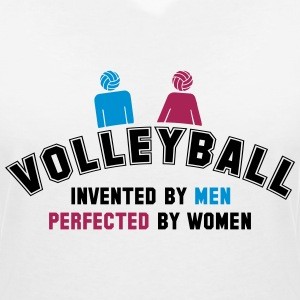 Volleyball: invented by men, perfected by women T-Shirts - Women's V-Neck T-Shirt