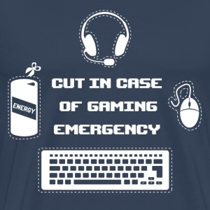 Cut in Case of Gaming I T-Shirts - Männer Premium T-Shirt
