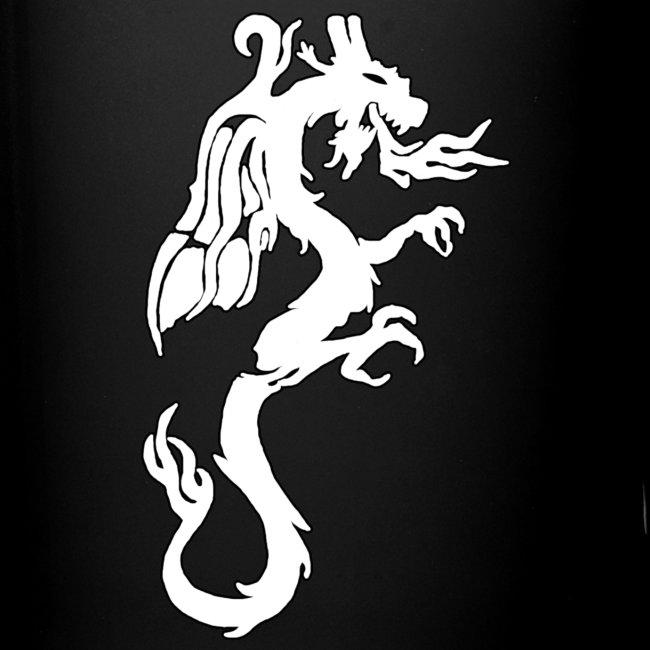 Tasse mit weißem Drachen