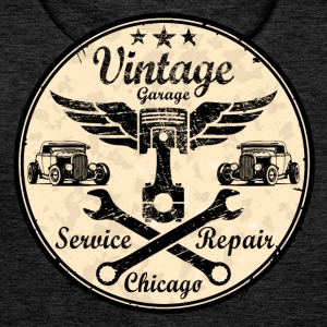 vintage repair service Sweat-shirts - Sweat-shirt à capuche Premium pour hommes