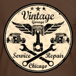 vintage repair service Tee shirts - T-shirt contraste Homme