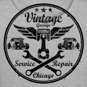 vintage repair service 02 Sweat-shirts - Sweat-shirt à capuche Premium pour hommes