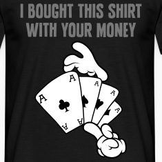 Comic Hands Gambling T-Shirts