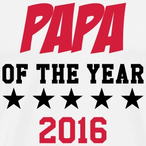 Papa of the year 2016 T-Shirts - Männer Premium T-Shirt