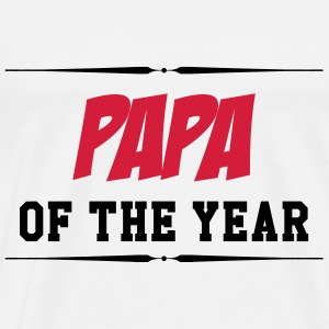 Papa of the year T-shirts - Mannen Premium T-shirt