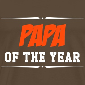 Papa of the year T-skjorter - Premium T-skjorte for menn