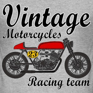 motorcycles vintage team Tee shirts - Tee shirt près du corps Homme