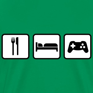 Eat Sleep Game T-Shirts - Männer Premium T-Shirt