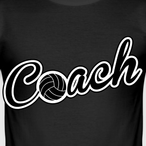 Volleyball Coach T-Shirts - Men's Slim Fit T-Shirt