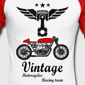 motorcycles vintage team 02 Manches longues - T-shirt baseball manches longues Homme