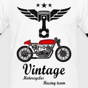 motorcycles vintage team 02 T-Shirts - Men's Ringer Shirt