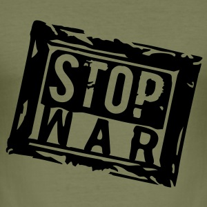 STOP WAR - Männer Slim Fit T-Shirt