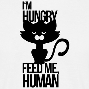 Cat is hungry and wants to be fed T-Shirts - Men's T-Shirt