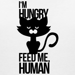 Cat is hungry and wants to be fed T-Shirts - Women's V-Neck T-Shirt