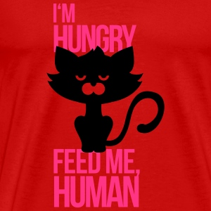 Cat is hungry and wants to be fed T-Shirts - Men's Premium T-Shirt