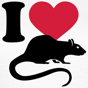 I love Ratte T-Shirts - Frauen T-Shirt