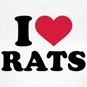 I love rats T-Shirts - Frauen T-Shirt