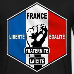 france hexagone devises Tee shirts - T-shirt Homme