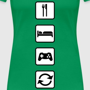 Eat Sleep Game Repeat T-Shirts - Women's Premium T-Shirt