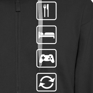 Eat Sleep Game Repeat Hoodies & Sweatshirts - Men's Premium Hooded Jacket