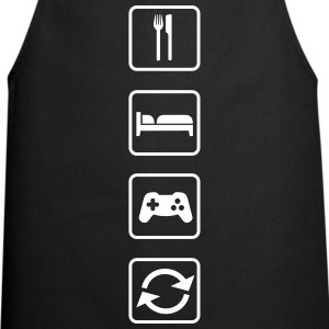 Eat Sleep Game Repeat  Aprons - Cooking Apron