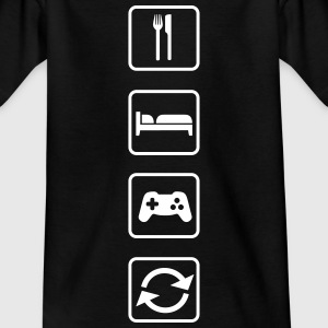 Eat Sleep Game Repeat T-Shirts - Kinder T-Shirt