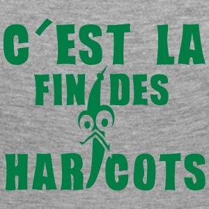 fin haricots expression Manches longues - T-shirt manches longues Premium Femme
