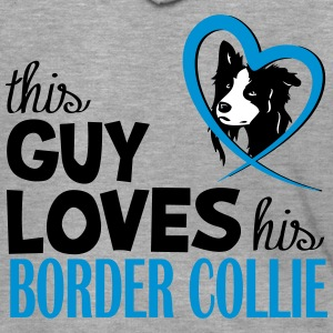 This guy loves his Border Collie Felpe - Felpa con zip Premium da uomo