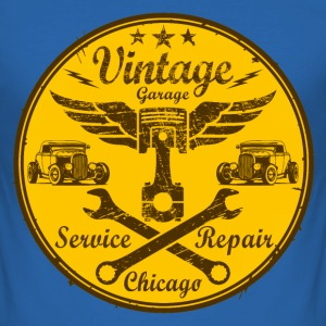 vintage repair service 03 T-Shirts - Men's Slim Fit T-Shirt