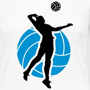 Volleyball Design Manga larga - Camiseta de manga larga premium mujer