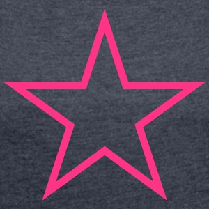5 Five Star_V2 T-Shirts - Women's T-shirt with rolled up sleeves