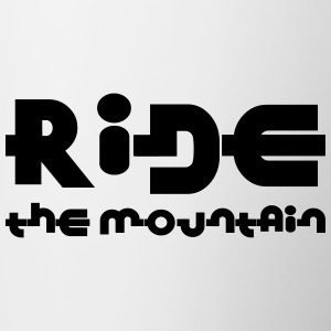 Ride the mountain ! Bouteilles et tasses - Tasse bicolore