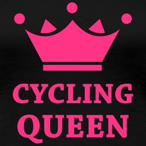 Cyclling Queen T-shirts - Vrouwen Premium T-shirt