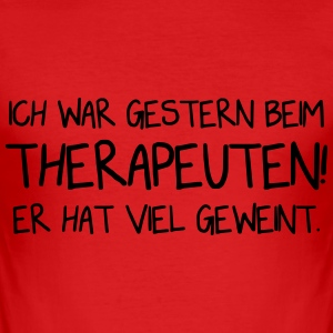 Therapeut - Lustig - Vector Design T-Shirts - Männer Slim Fit T-Shirt