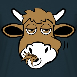 Eat cow funny animal T-Shirts - Men's T-Shirt