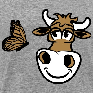 Cow cute Butterfly T-Shirts - Men's Premium T-Shirt