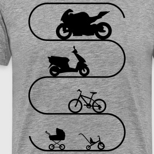 Grand Evolution de moto Tee shirts - T-shirt Premium Homme