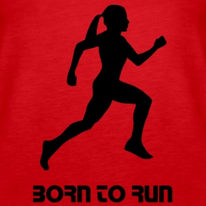 run, woman running - Canotta premium da donna