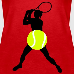 Tennis player, Tennis - Women's Premium Tank Top