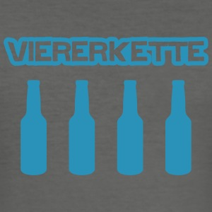 Viererkette T-Shirts - Männer Slim Fit T-Shirt