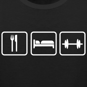 Eat Sleep Lift, Eat Sleep Gym, Eat Sleep Train Canotte - Canotta premium da uomo