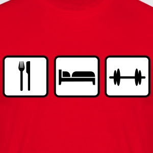 Eat Sleep Lift, Eat Sleep Gym, Eat Sleep Train Magliette - Maglietta da uomo
