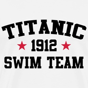 Titanic Swim Team 1912 T-shirts - Herre premium T-shirt
