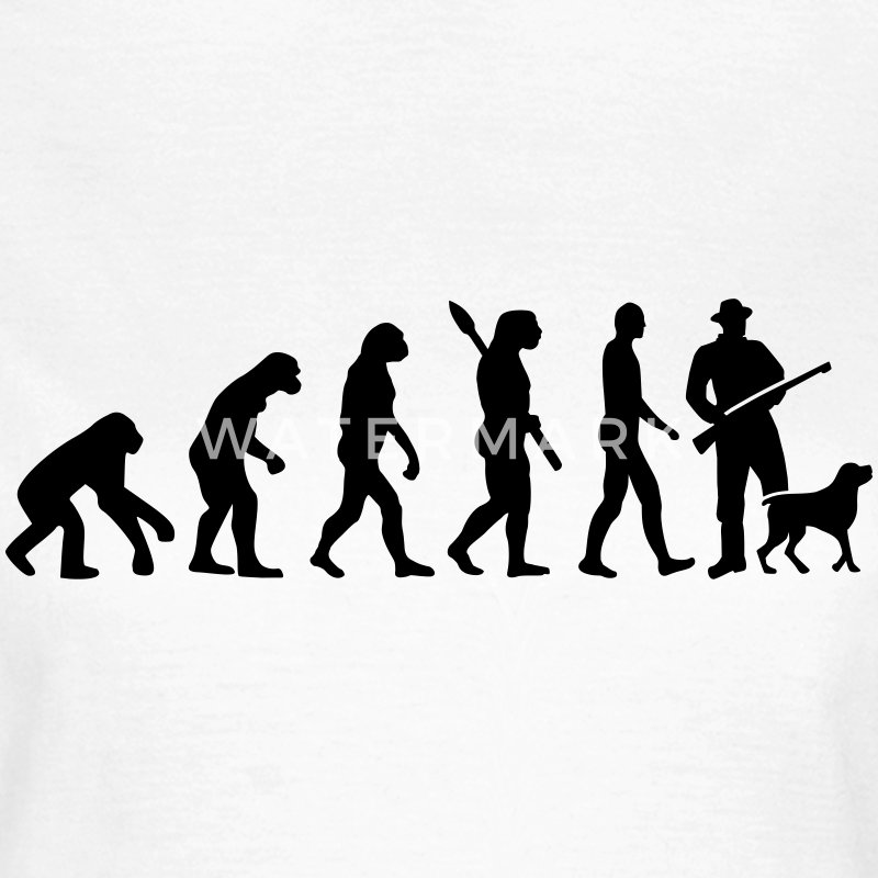 Evolution Jäger T-Shirts - Frauen T-Shirt