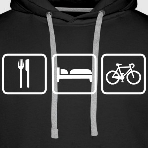 Eat Sleep Bike, Eat Sleep Cycle Racing Felpe - Felpa con cappuccio premium da uomo