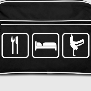 Eat Sleep Breakdance Bolsas y mochilas - Bandolera retro