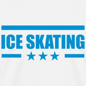 Ice Skating T-skjorter - Premium T-skjorte for menn