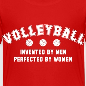 Volleyball: invented by men, perfected by women Koszulki - Koszulka dziecięca Premium
