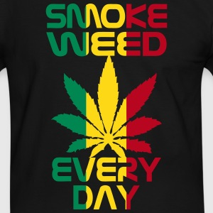 smoke weed every day reggae Tee shirts - T-shirt contraste Homme