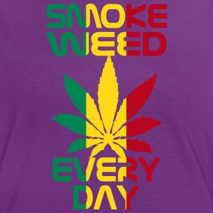 smoke weed every day reggae Tee shirts - T-shirt contraste Femme
